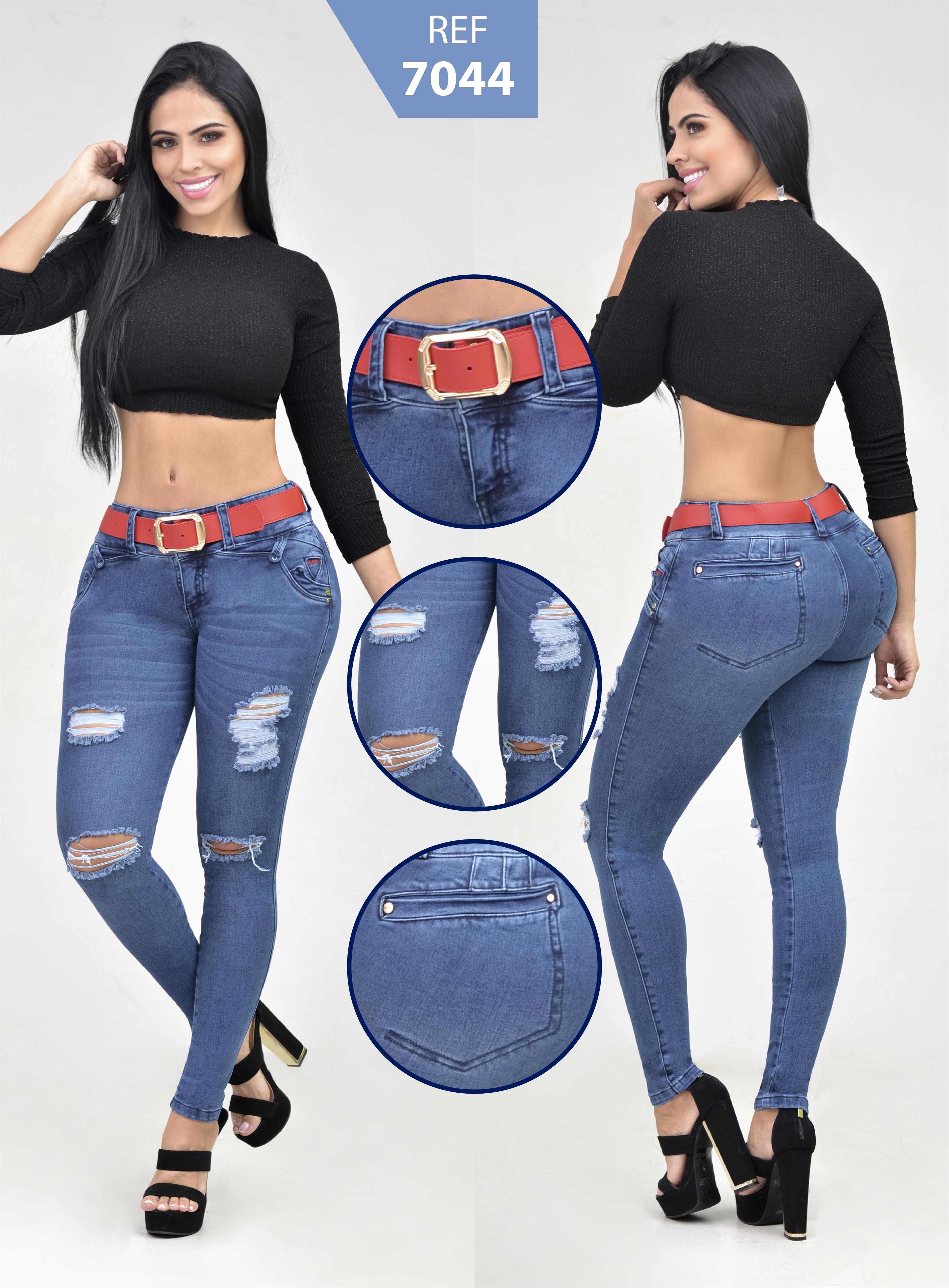 Pantalón Para Dama Estilo Levanta Cola En Jean
