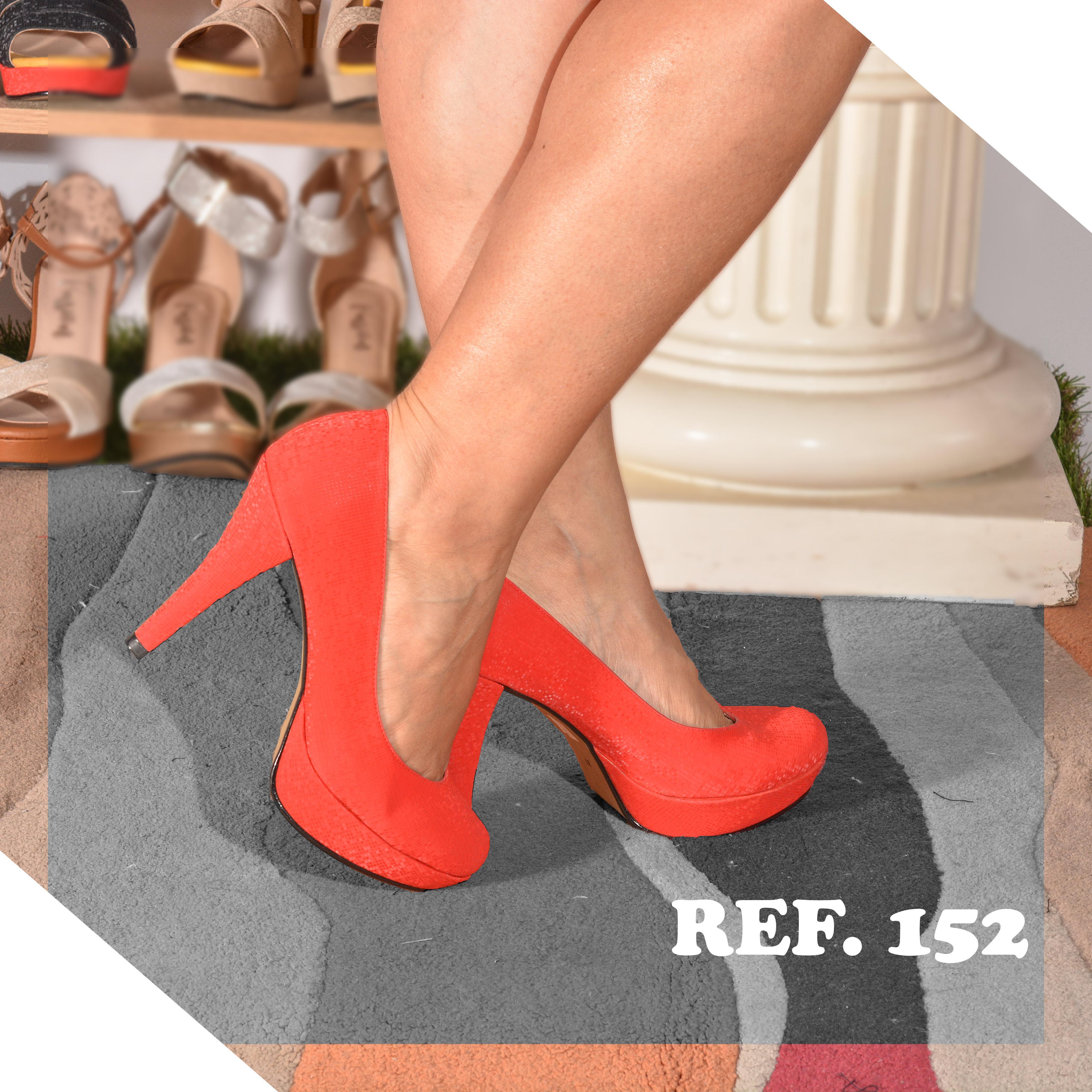 Zapatos para Dama de Tacón, Elaborados en Colombia, Color Rojo