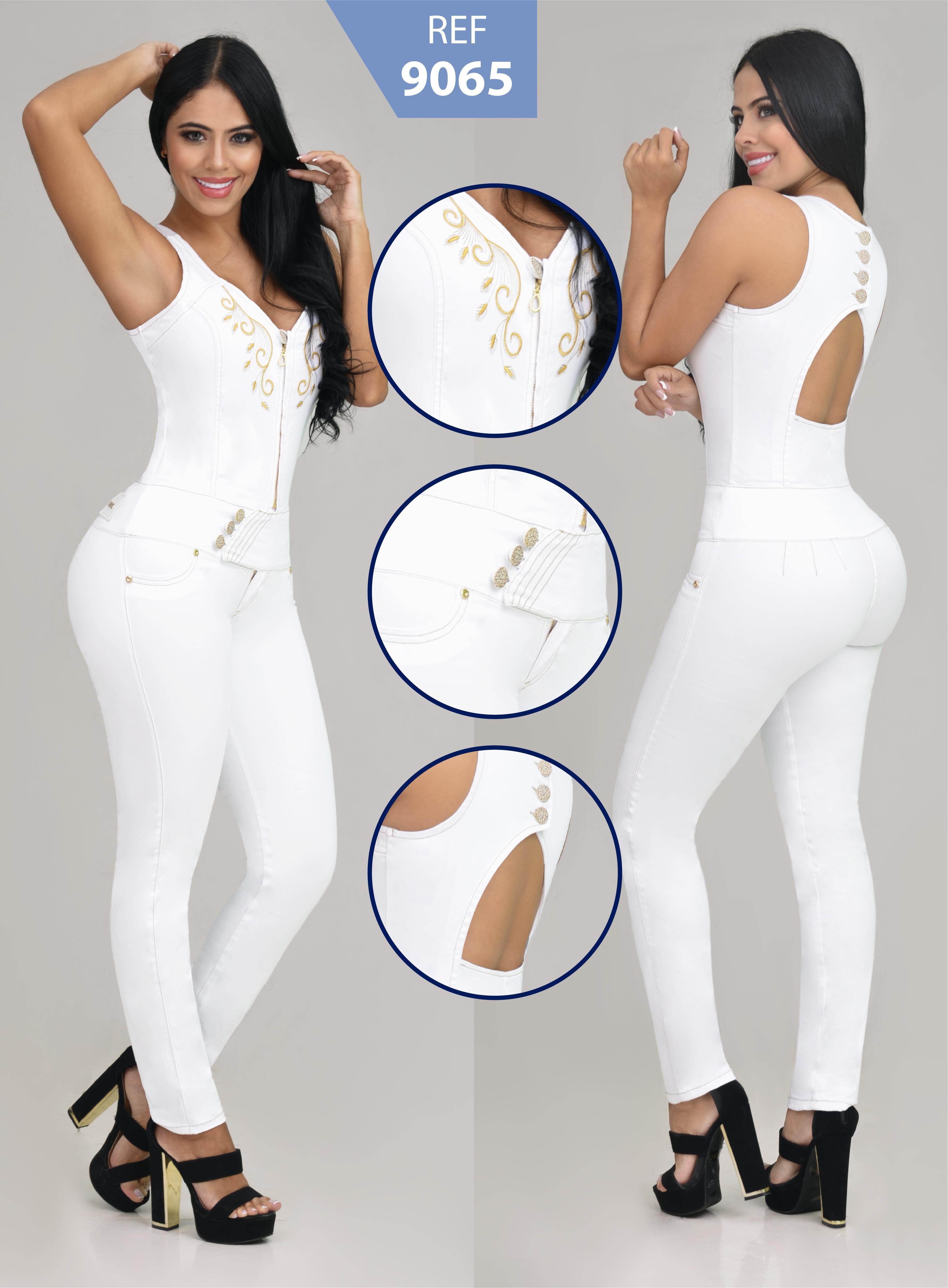 Enterizo Colombiano de Moda Con parte de la Espalda Descubierta y los hombros al aire libre, cierre frontal con cremallera y fantástico Diseño Levanta Cola.