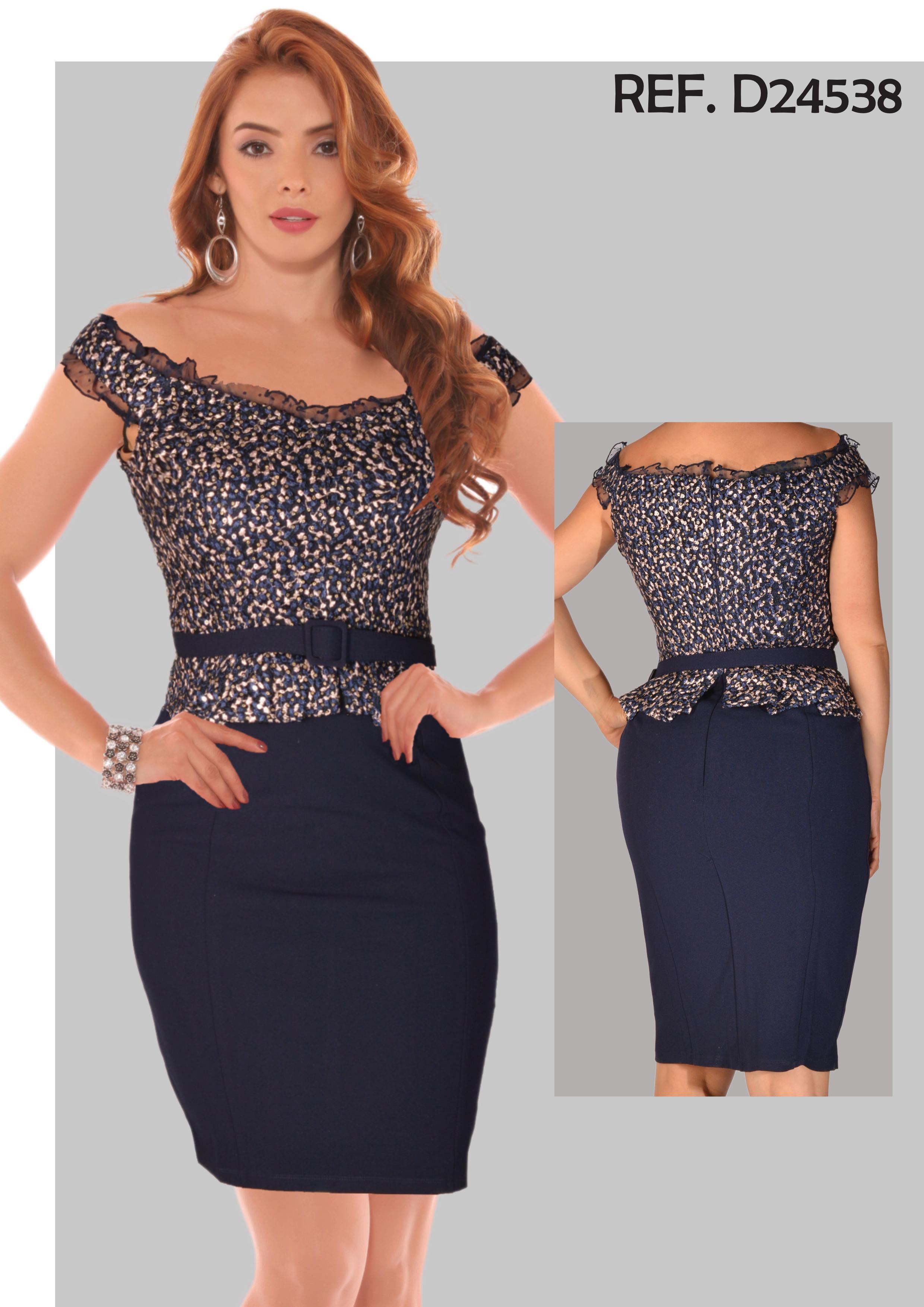 Vestido De Fiesta Corto Americano, Con hermoso decorado en hilo en la parte de la blusa