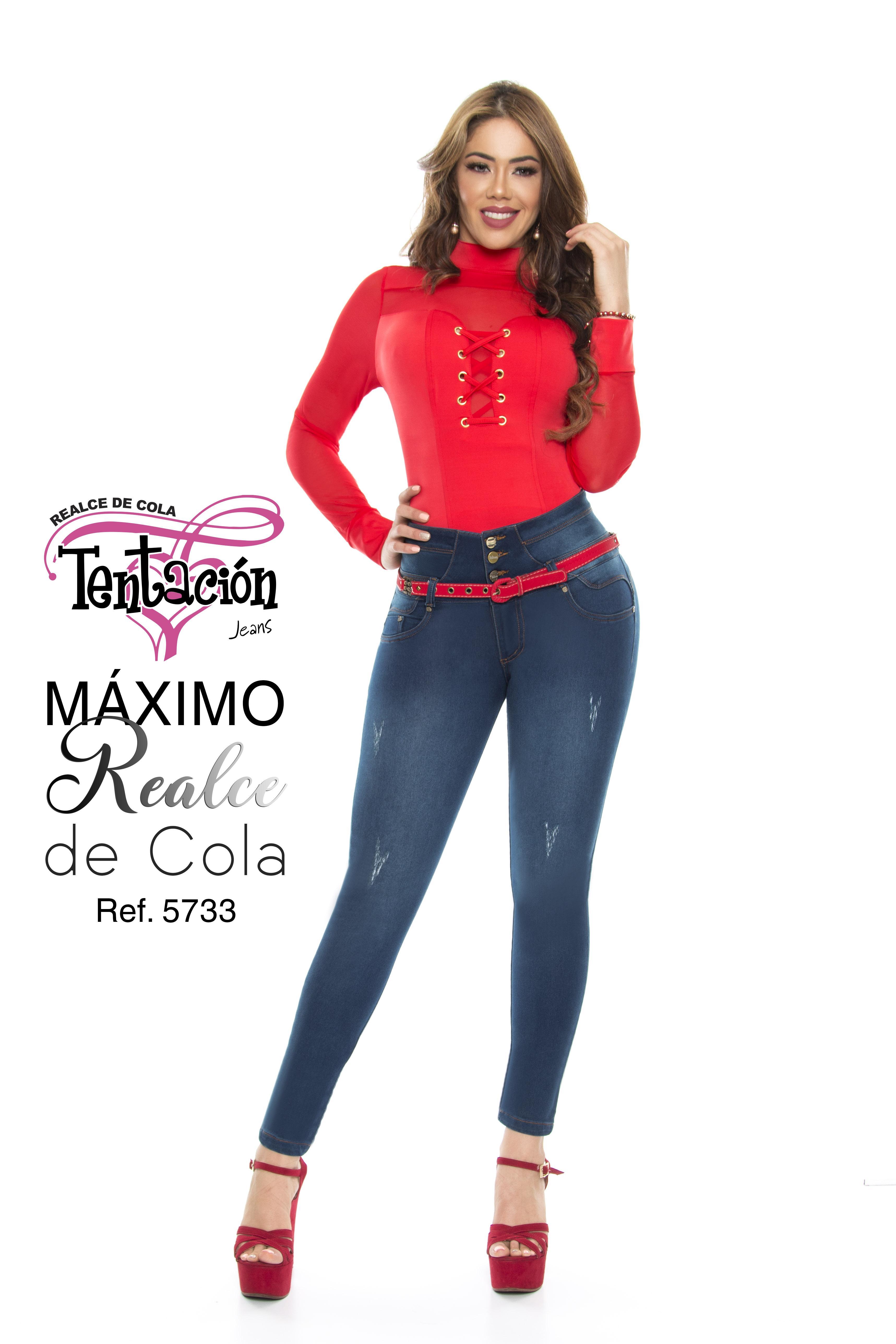 Jean Vaquero de Moda Realce Máximo de Cola y Ajuste Perfecto.