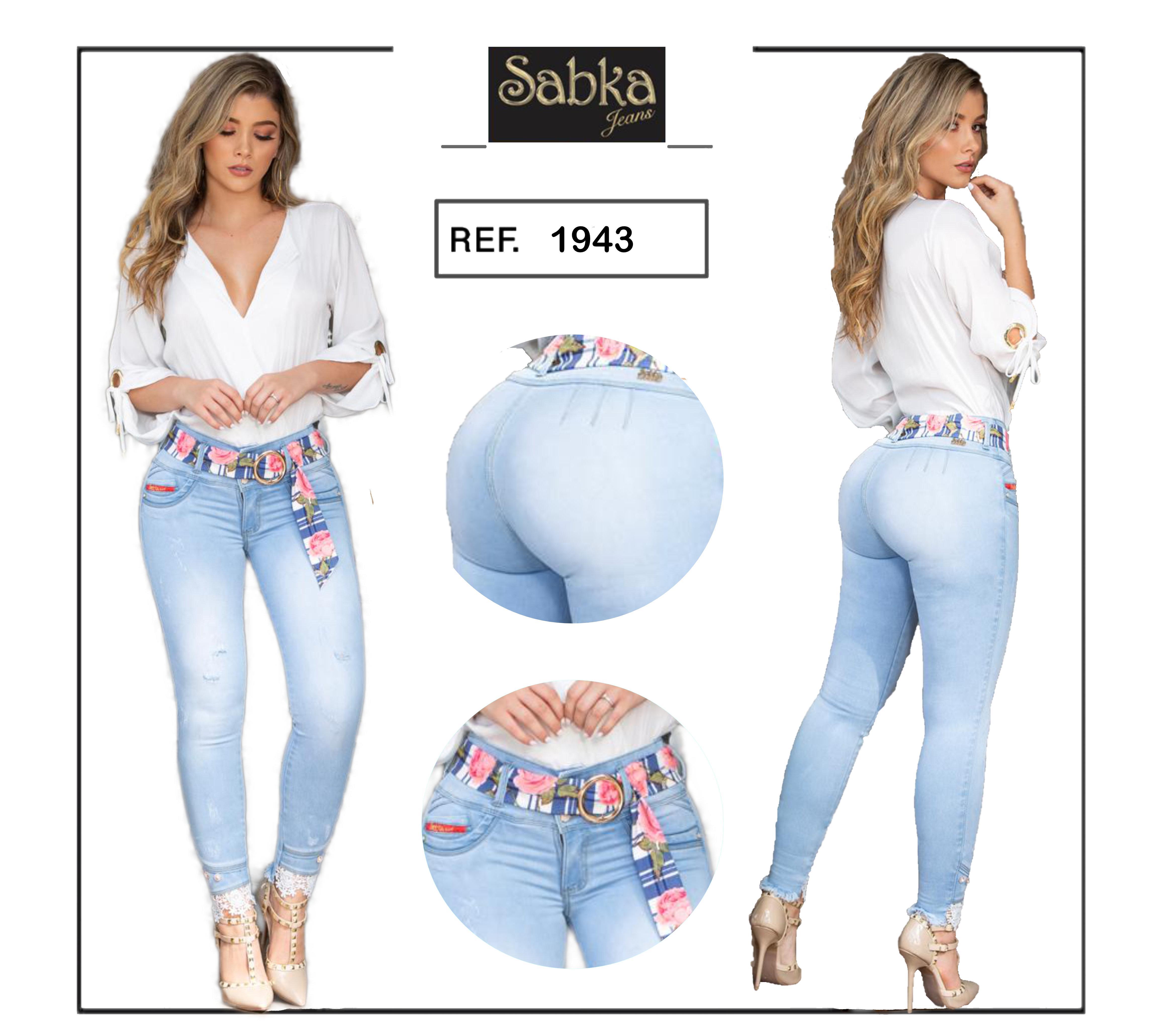 Vaquero Pantalon en jean Colombiano Levanta y Sostiene tu figura.