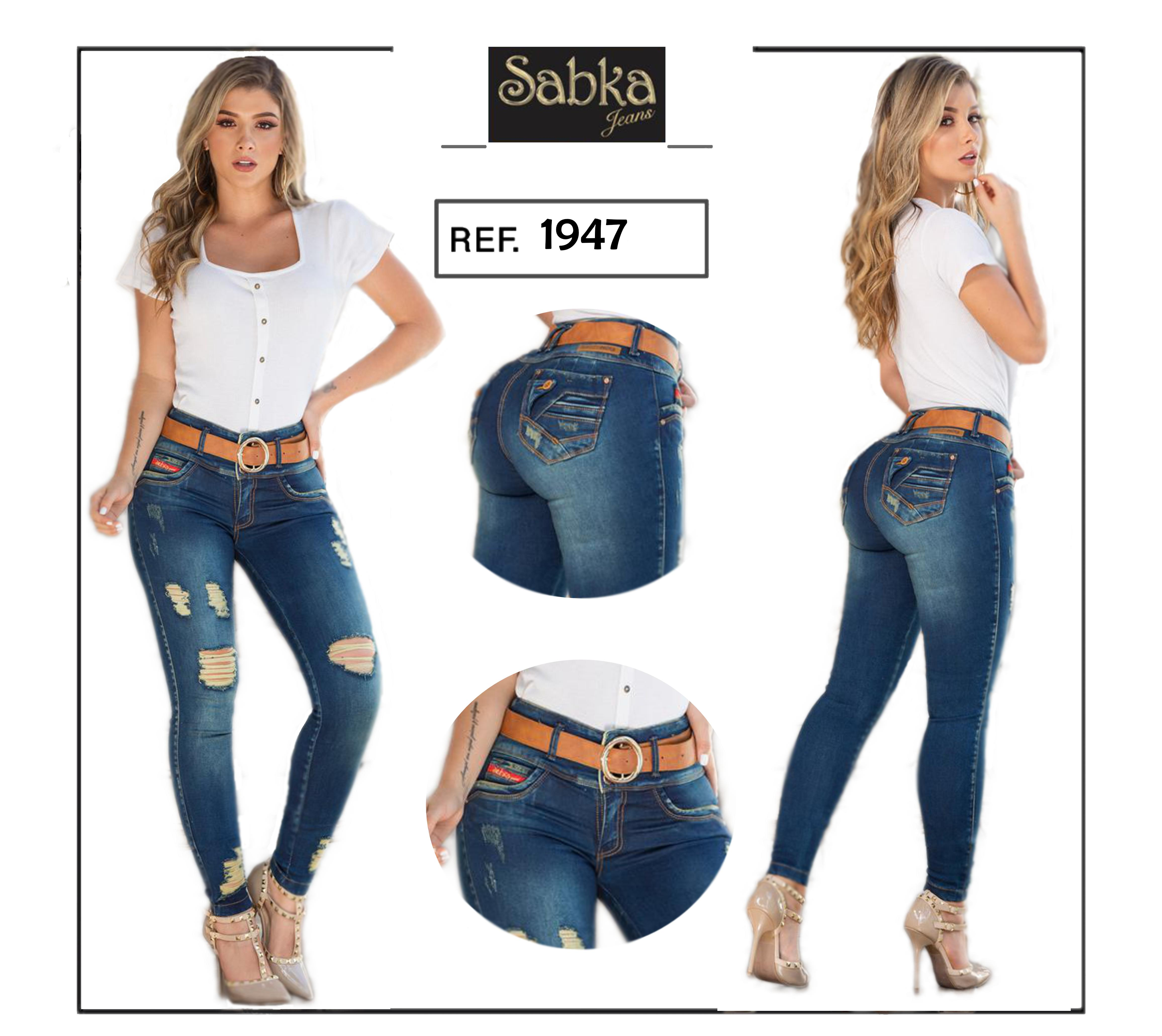Jeans Colombianos Para Dama Push Up Perfect fit.