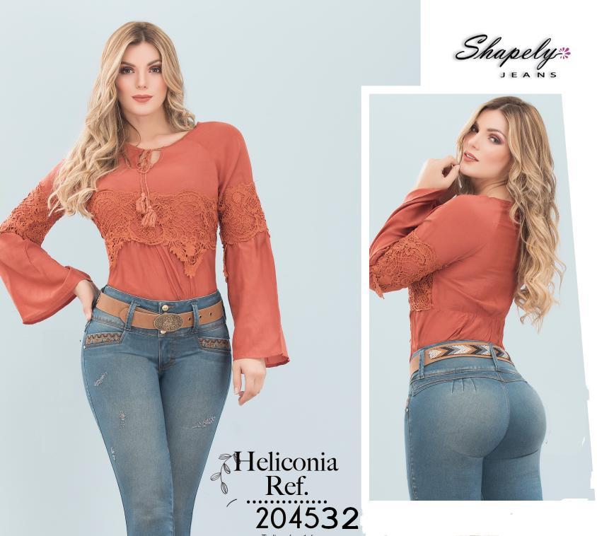Fantastica Blusa Colombiana de moda con mangas a la mitad del brazo