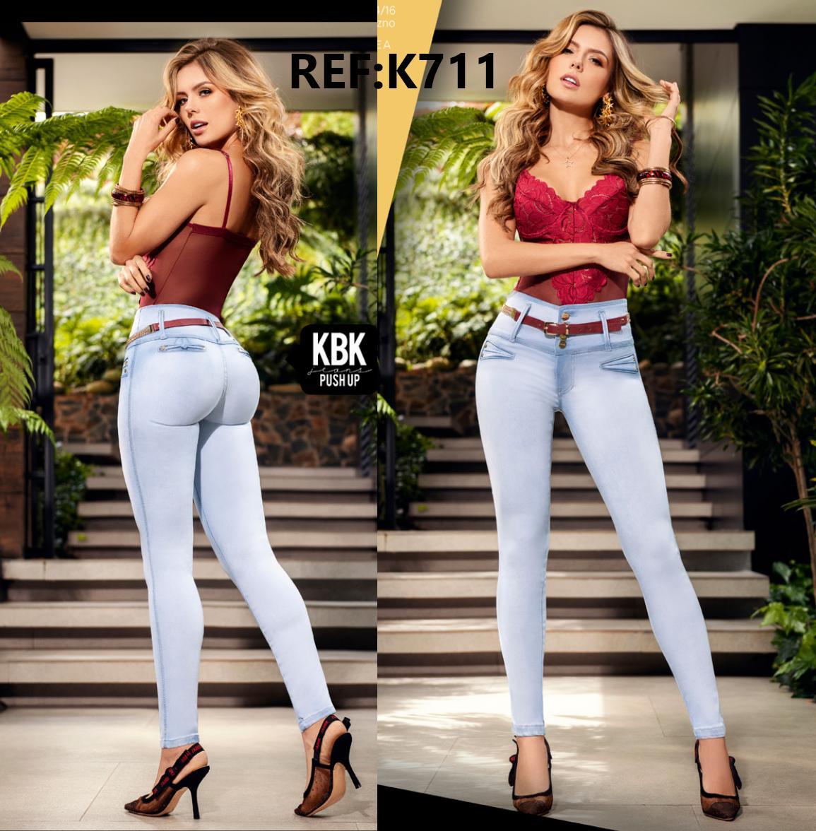 Jeans Push Up de Moda con Pretina Ancha