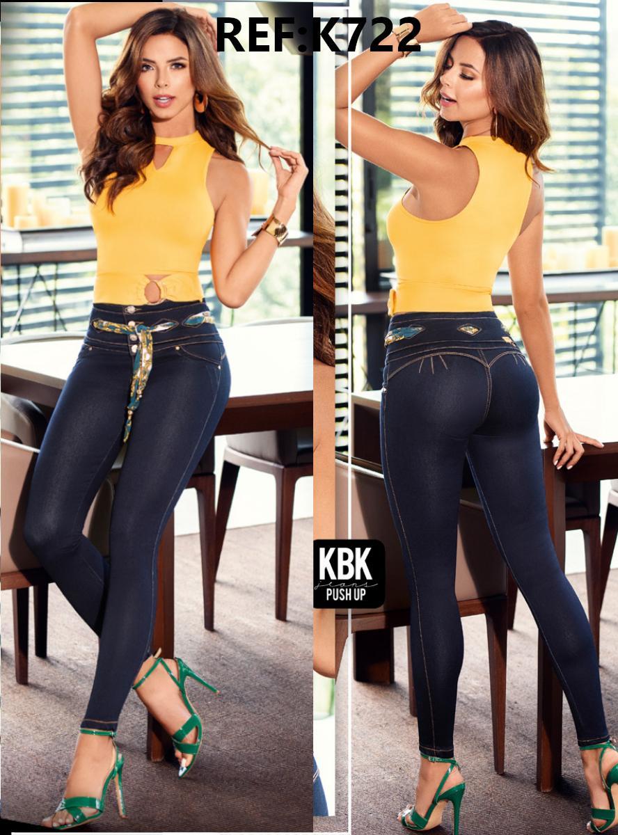 Jeans Colombianos de Dama con Efecto Levanta Cola de Moda