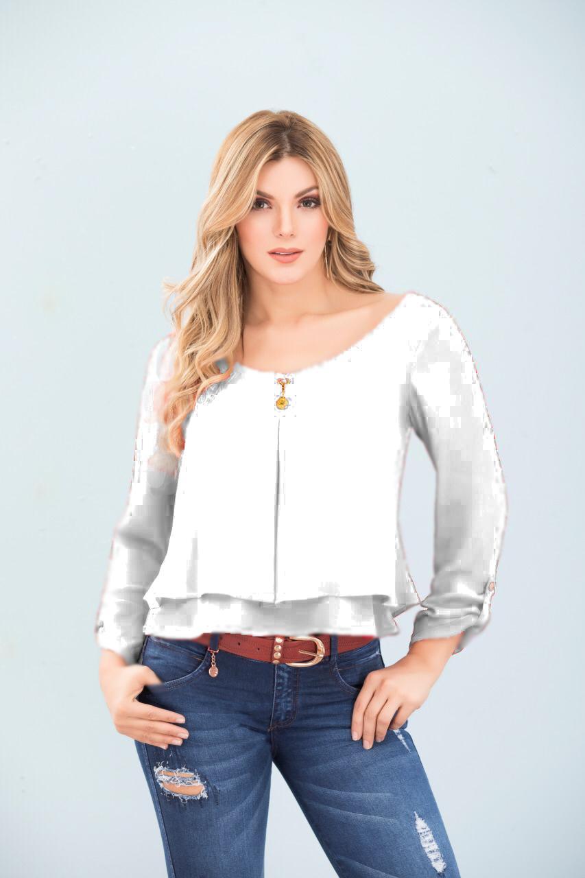 Blusa Colombiana Para Dama con hermoso decorado