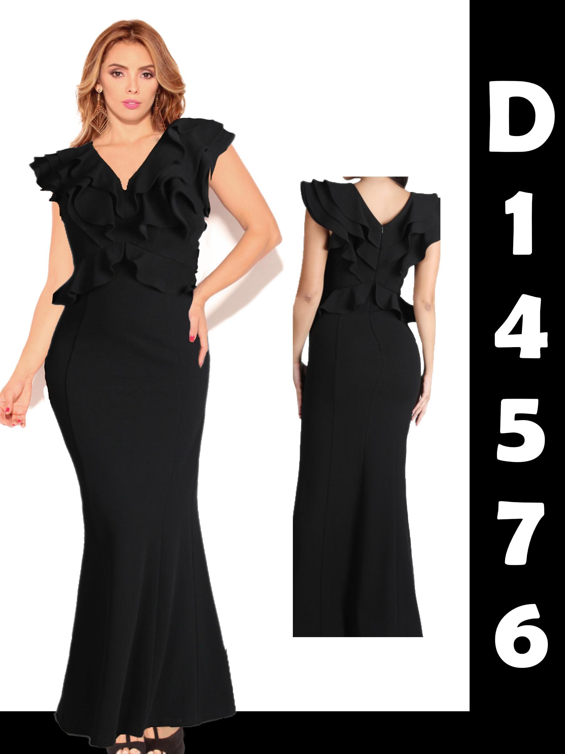 Vestido Americano de Moda, Diseño Largo de Falda Exclusiva, hombros descubiertos