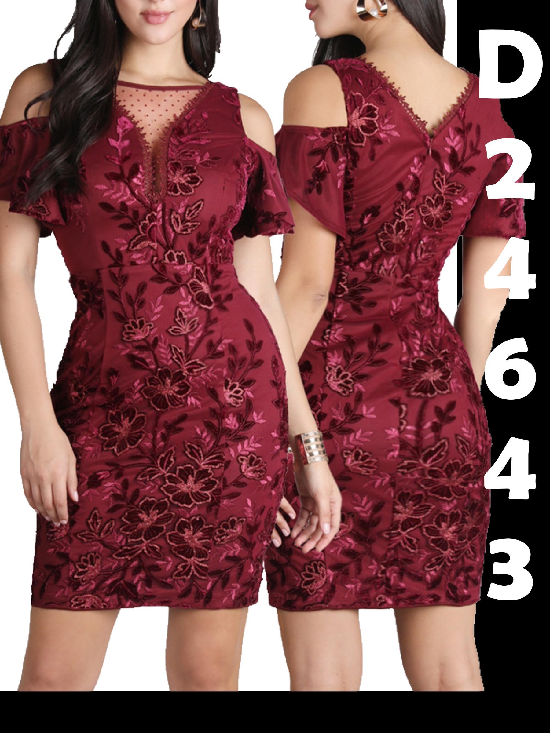 Vestido Corto Americano de Moda para Dama, diseño exclusivo