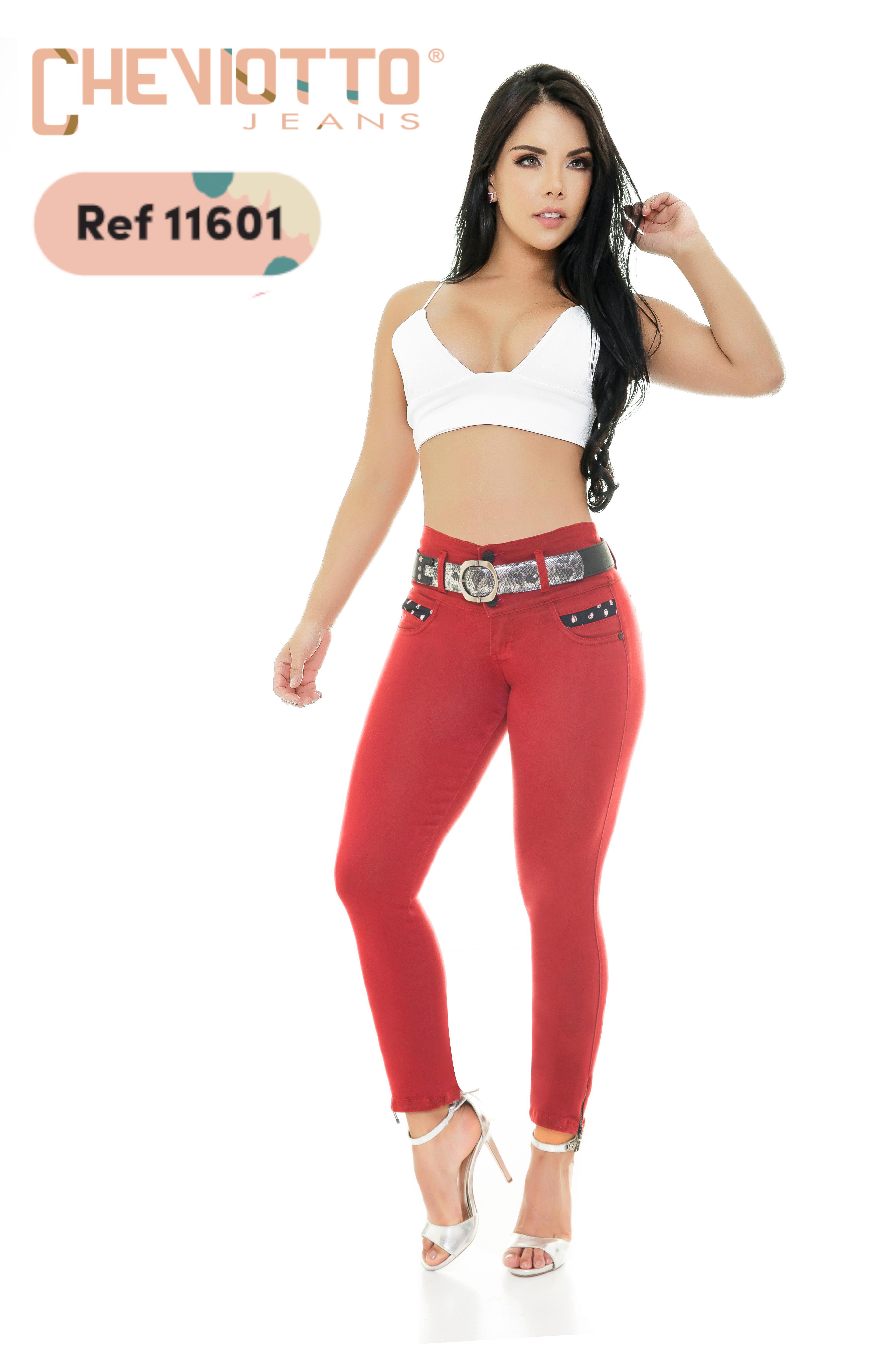Pantalon Para Dama Vaquero Cheviotto Efecto Levanta Cola y Diseño exclusivo
