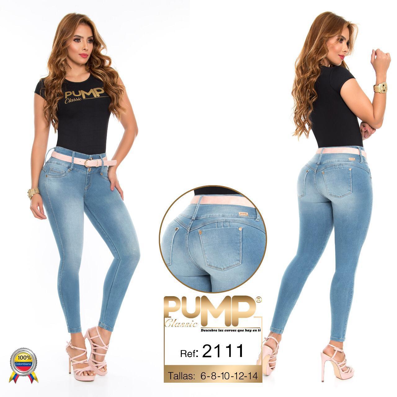 Pantalón Vaquero de Dama Original Levanta Cola Colombiano, bolsillos traseros, ajuste perfecto