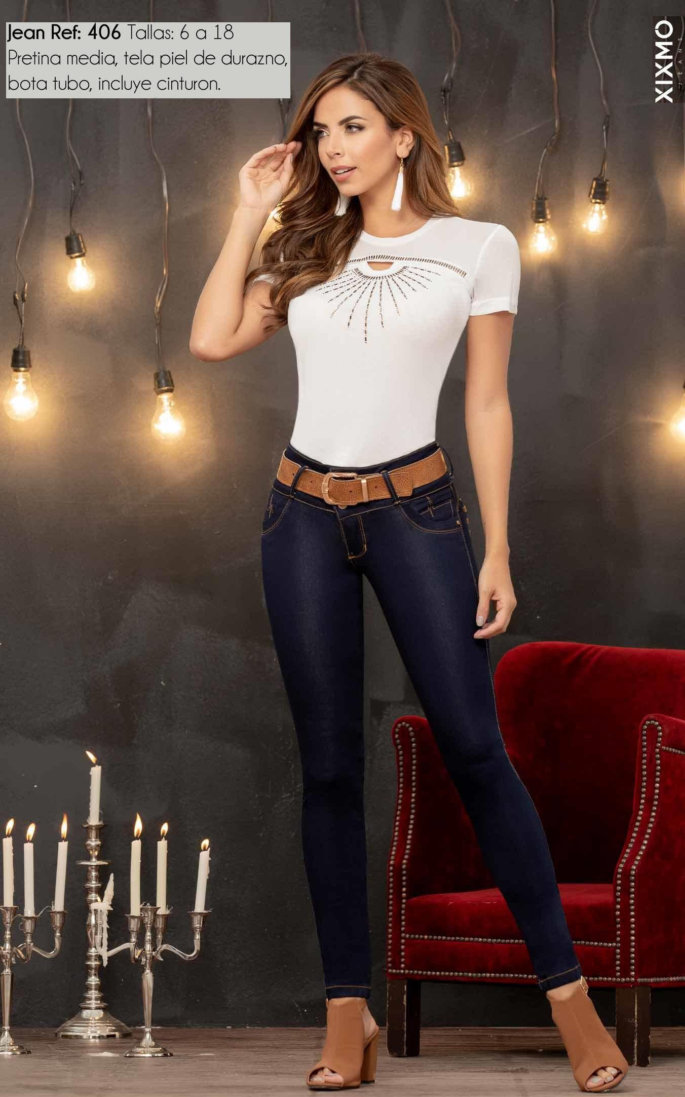 Pantalon jean vaquero dama push up