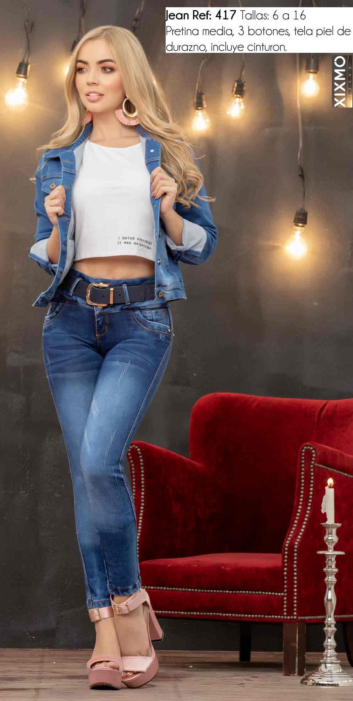 Jean de Moda hecho en Colombia Levanta cola