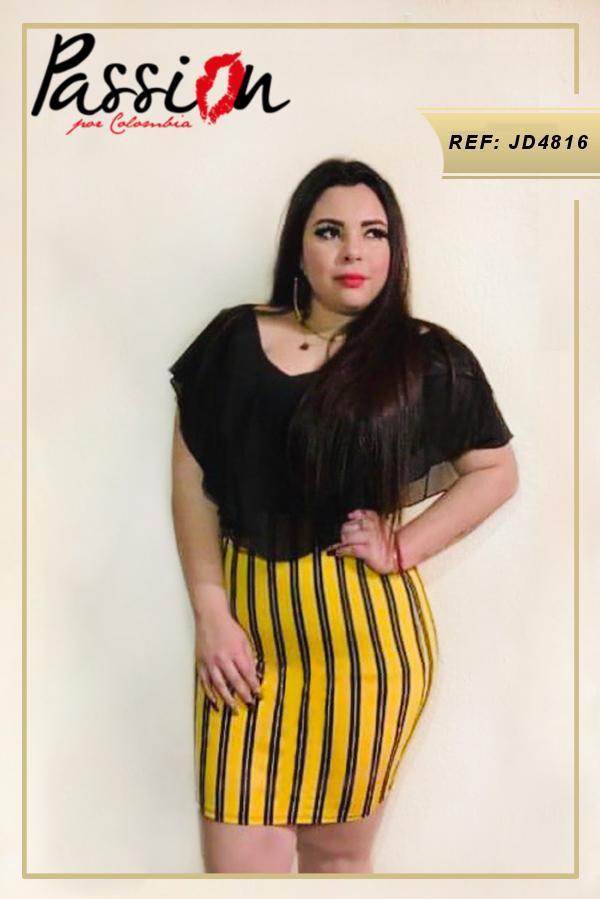 Vestido Americano corto diseño exclusivo incluye tallas plus