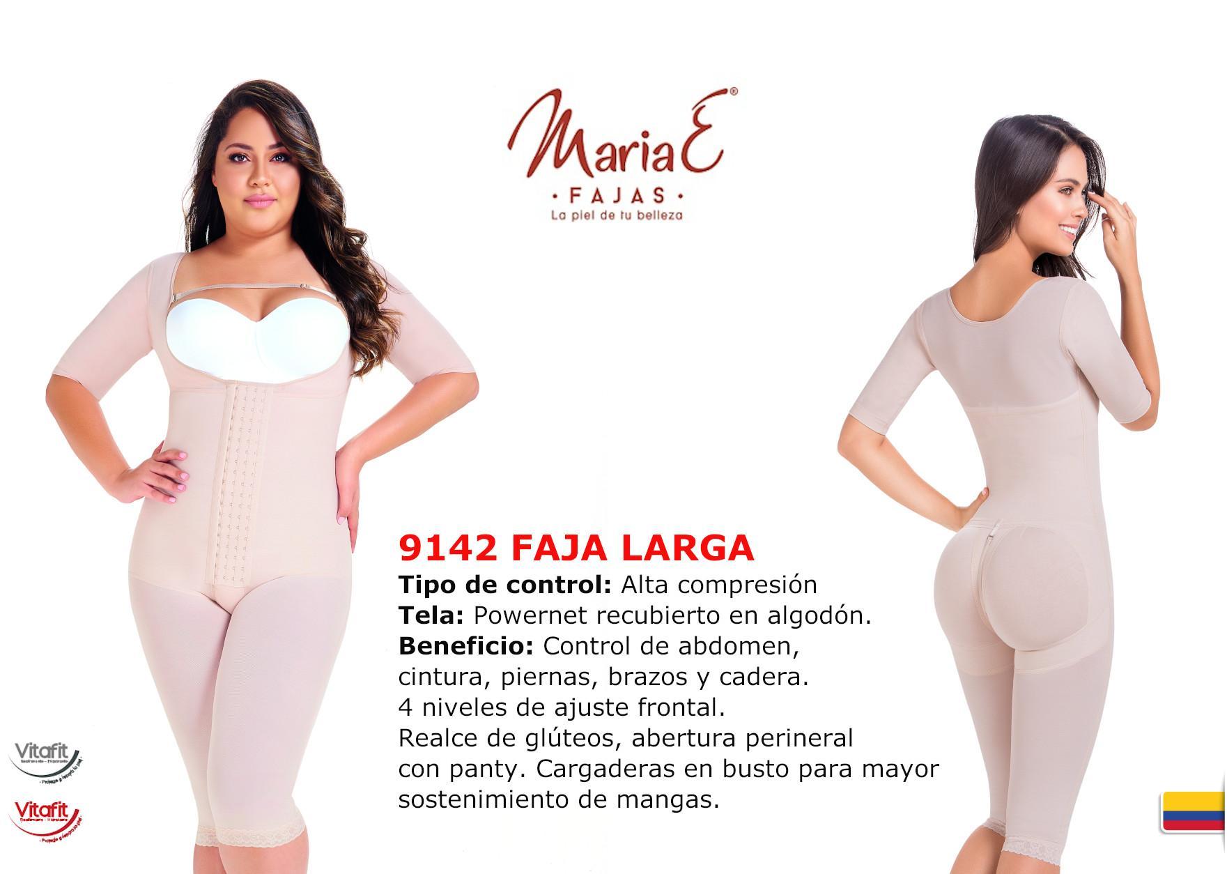 Faja Estética Colombiana Post-Quirurgica con Broches graduables y diseño tipo Capri