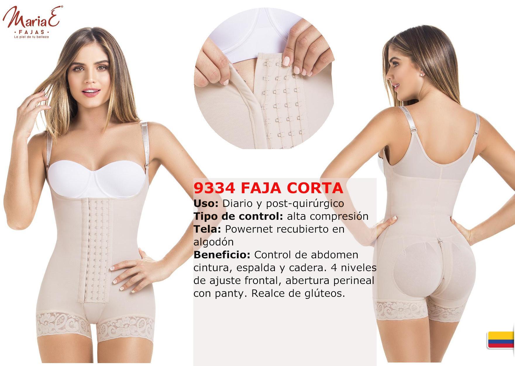 Faja Colombiana corta tipo Short con tiras y 4 niveles de ajuste