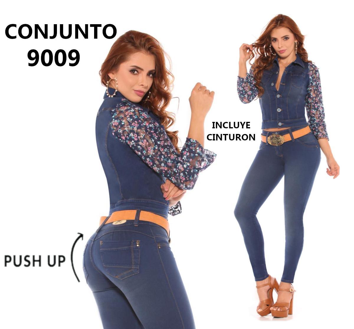 Conjunto Colombiano de Moda con decorados