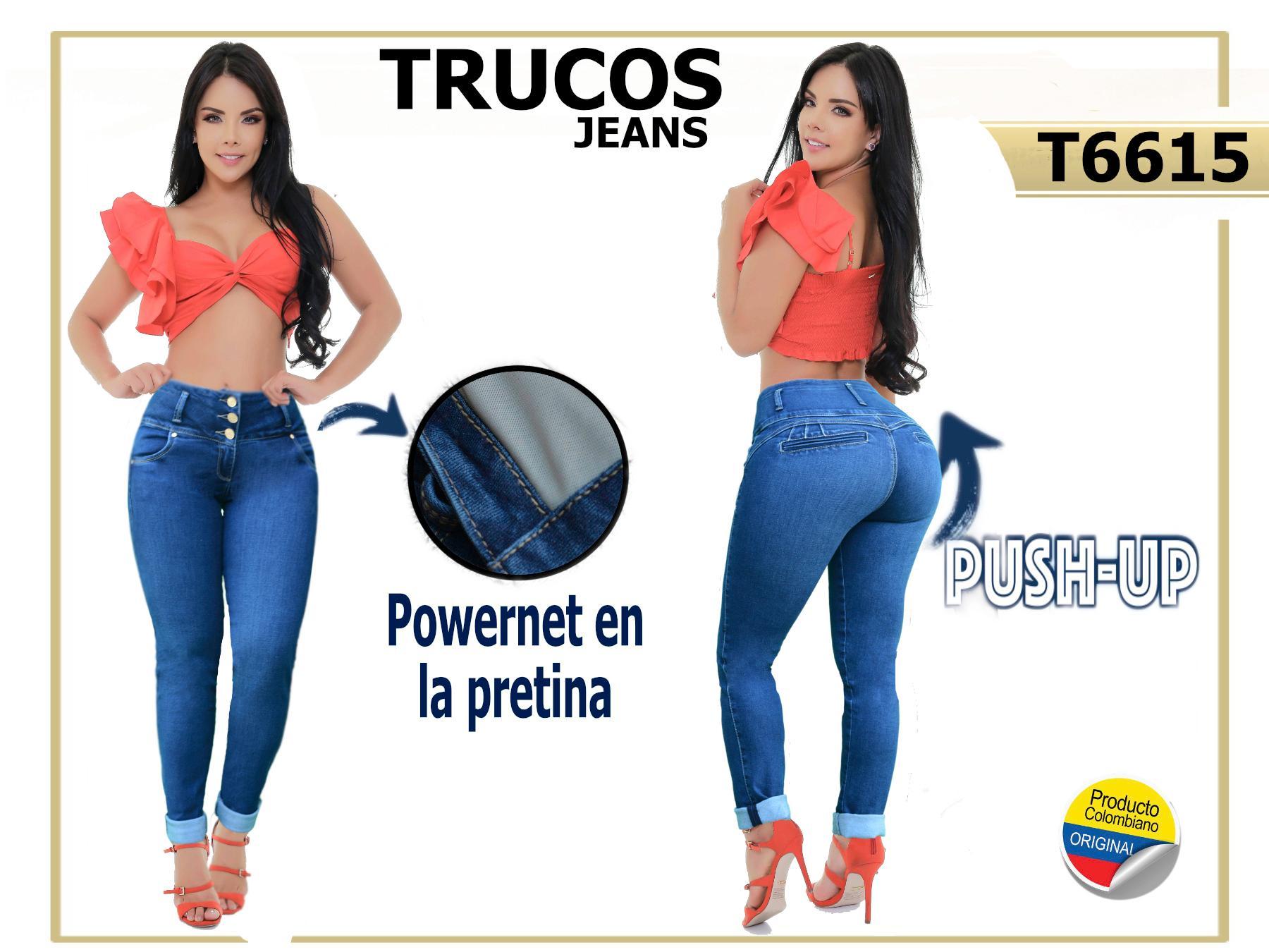 Jeans Colombianos de Moda Vaqueros con Faja Interna