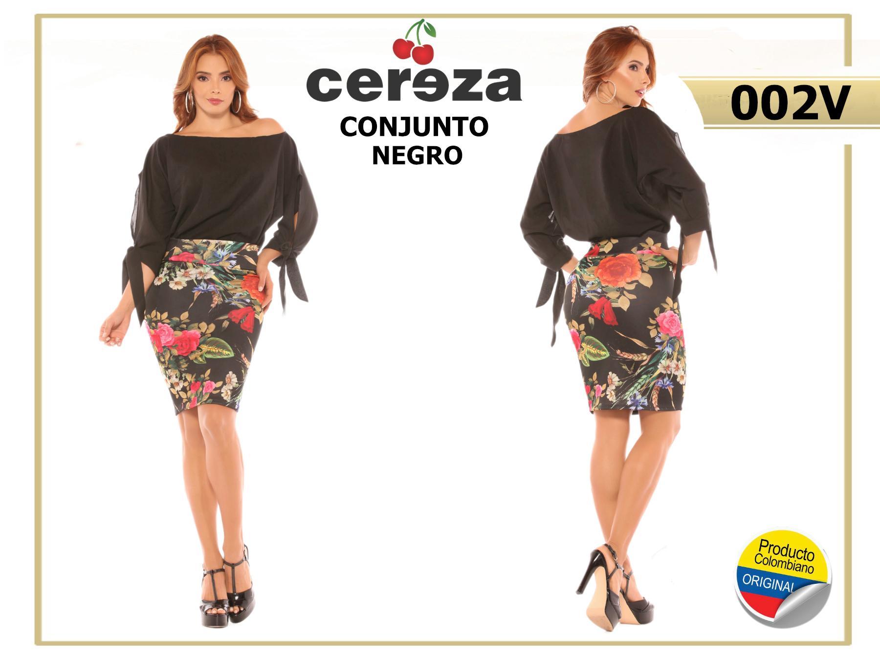 Conjunto Colombiano de Falda y Blusa