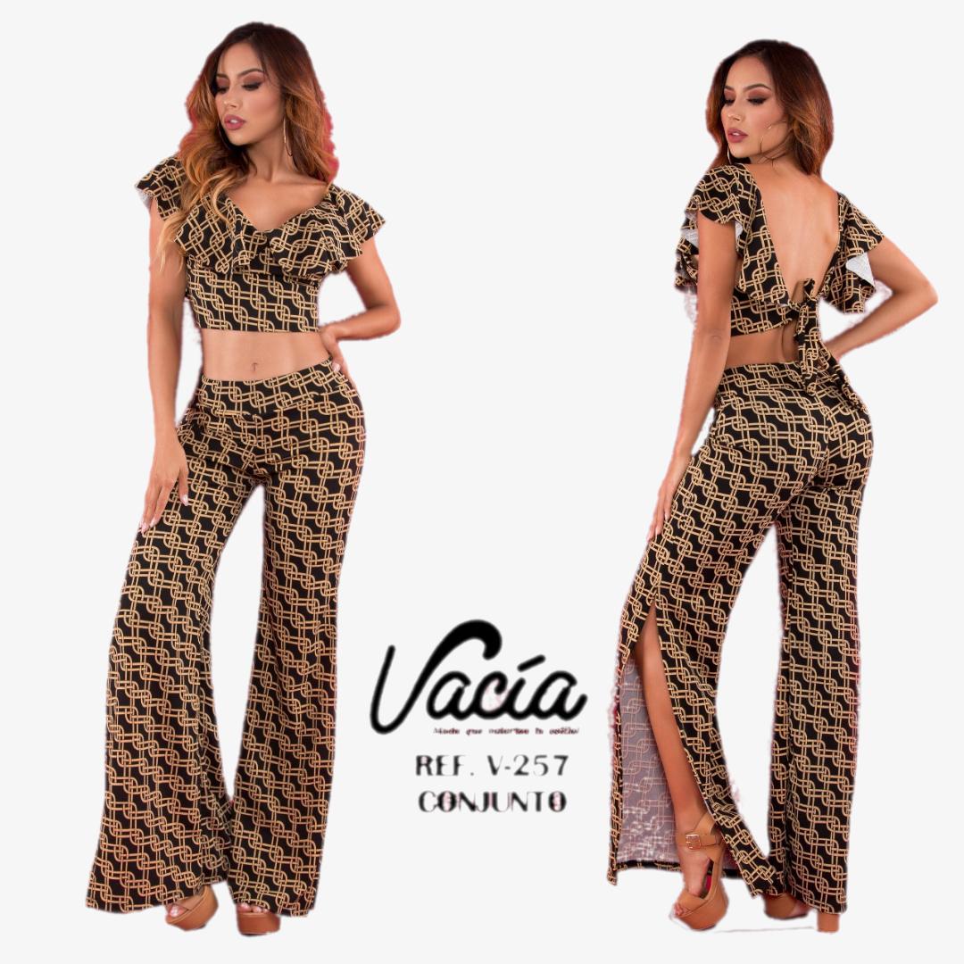 Conjuntos Colombiano de Moda, Blusa Verano y Pantalón Largo