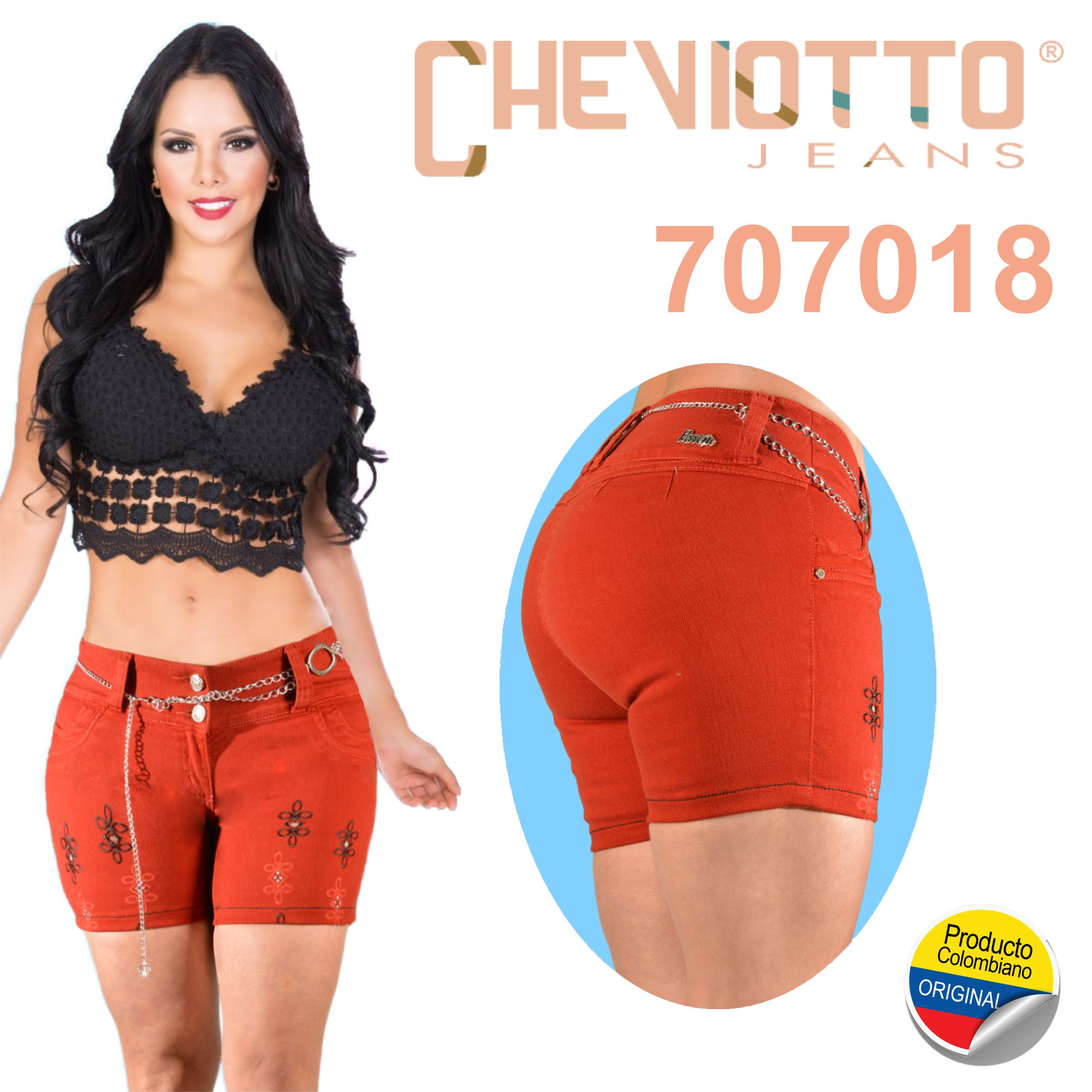 Hermoso Jean Short Colombiano Levantacola