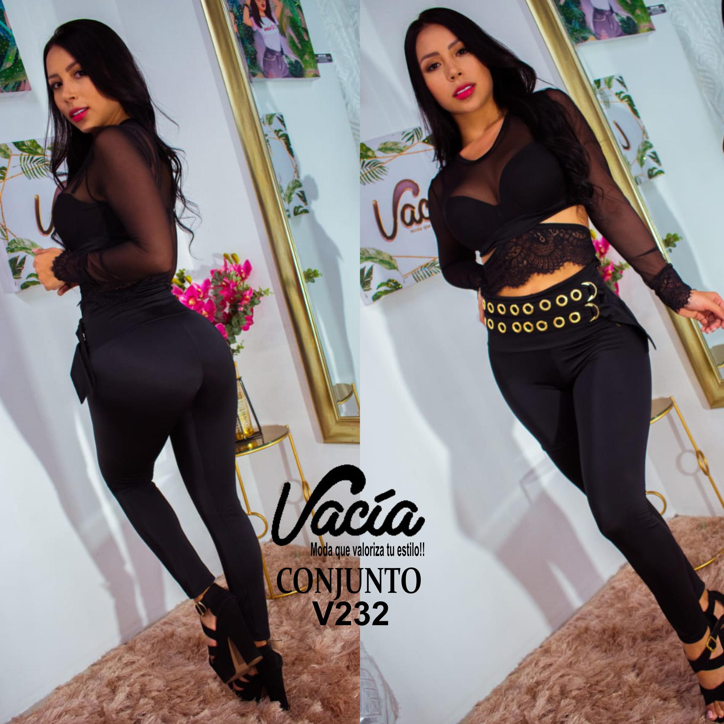 Conjunto colombiano con pantalon de moda