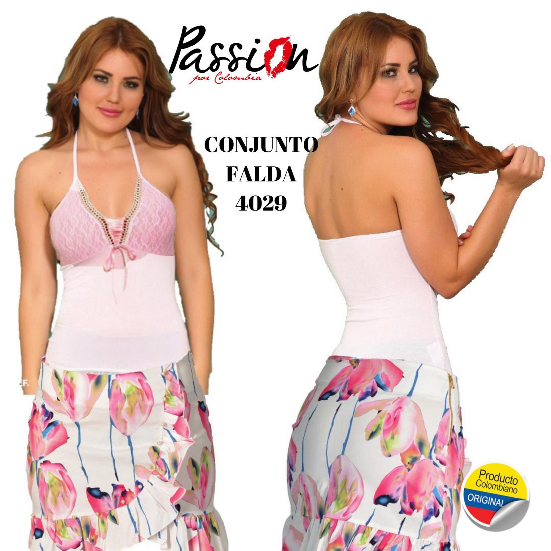 Conjunto de Falda y blusa Colombianos de Moda