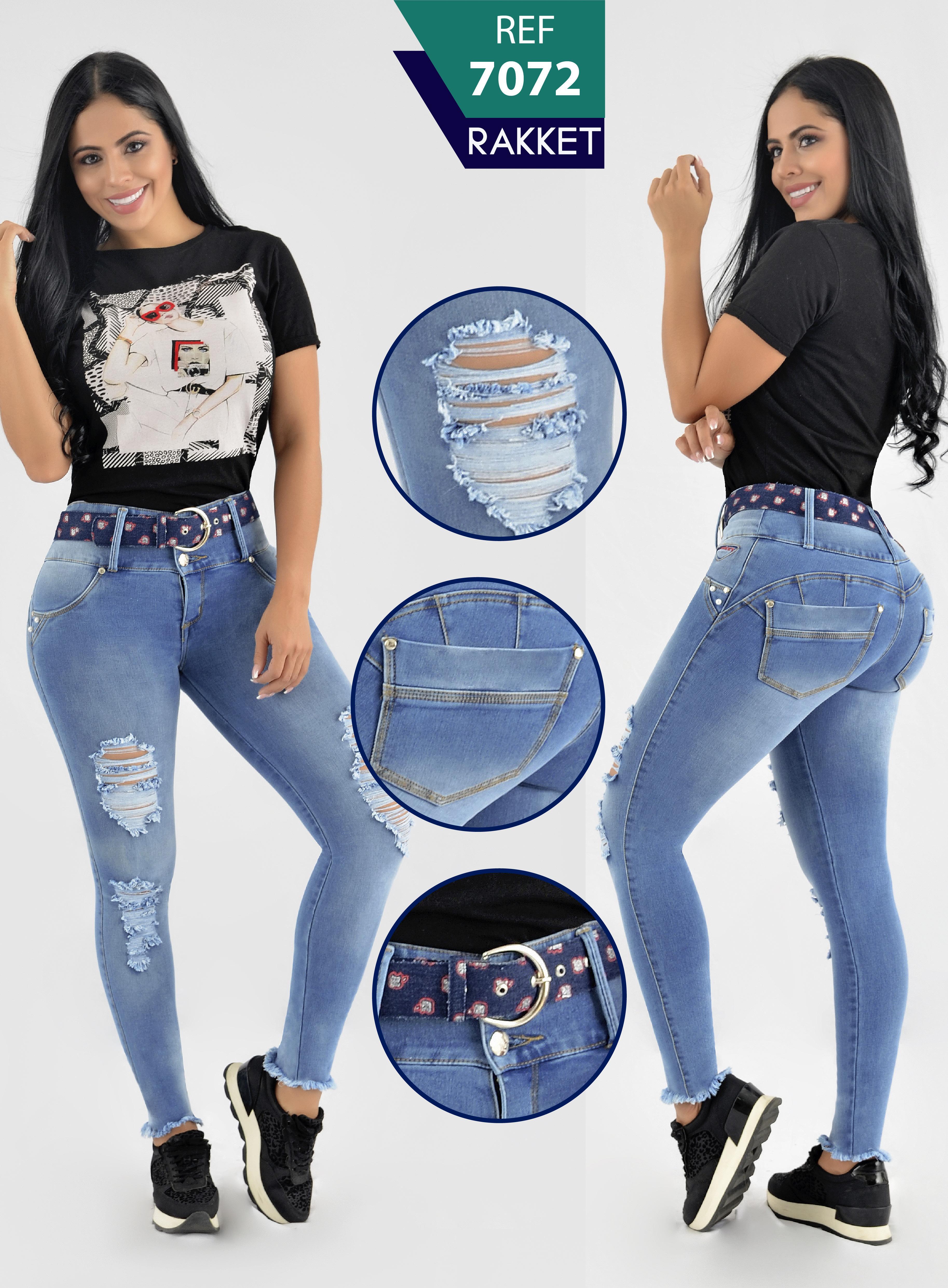 Jeans colombianos RAKKET levantacola