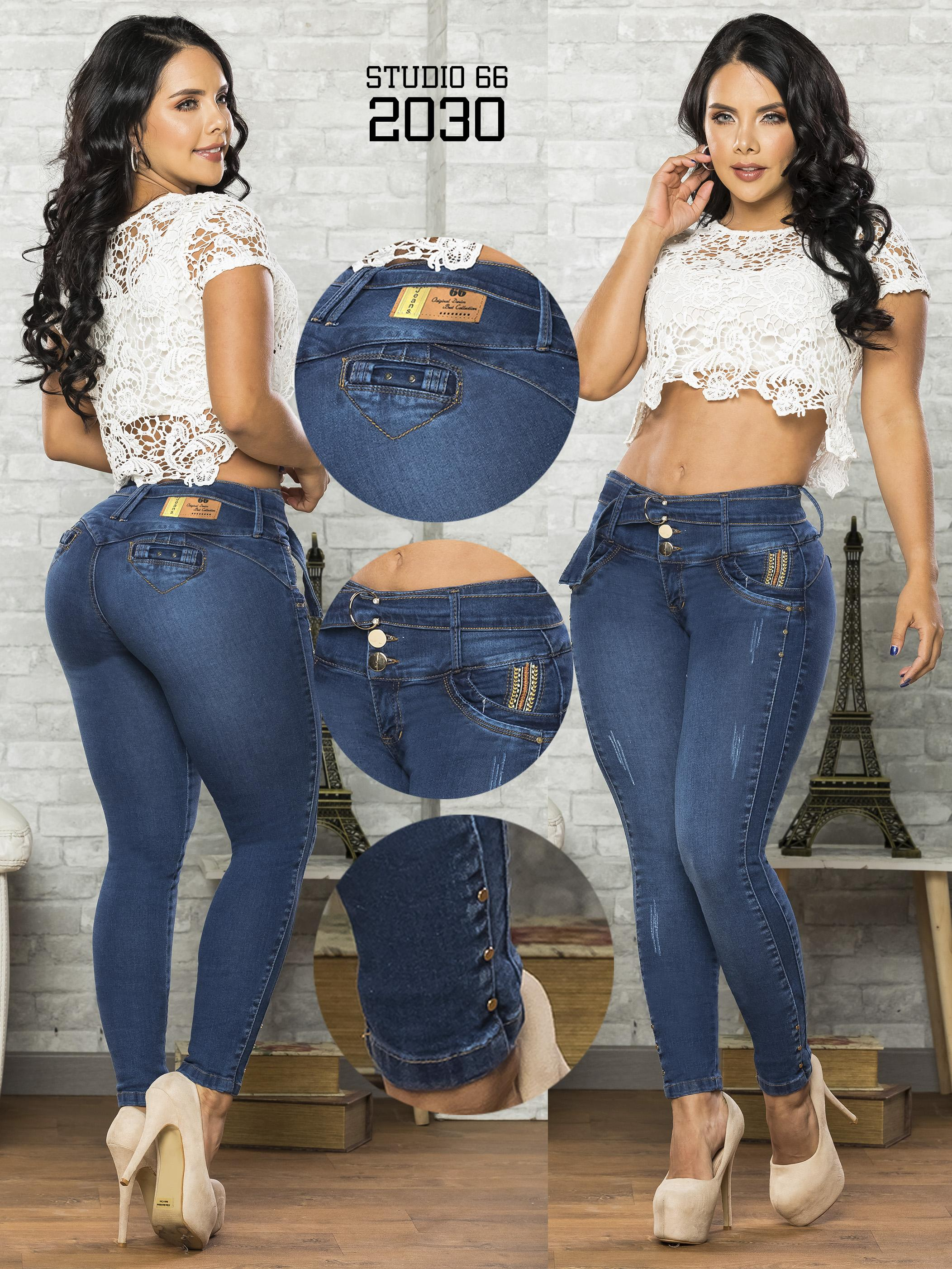 Vaqueros jean push up colombianos
