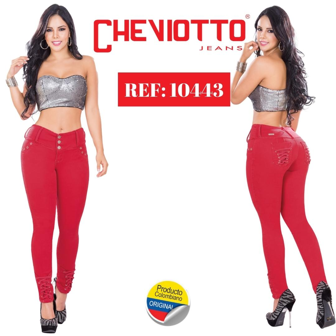 Jeans Colombianos Color Rojo