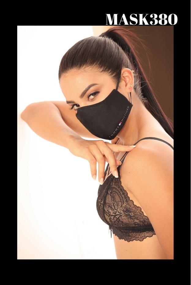 Mascarilla Protección Fashion Tommy Negra