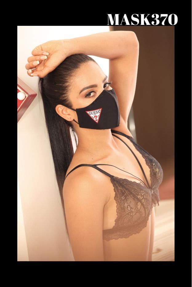 Mascarilla Protección Fashion Guess Negro