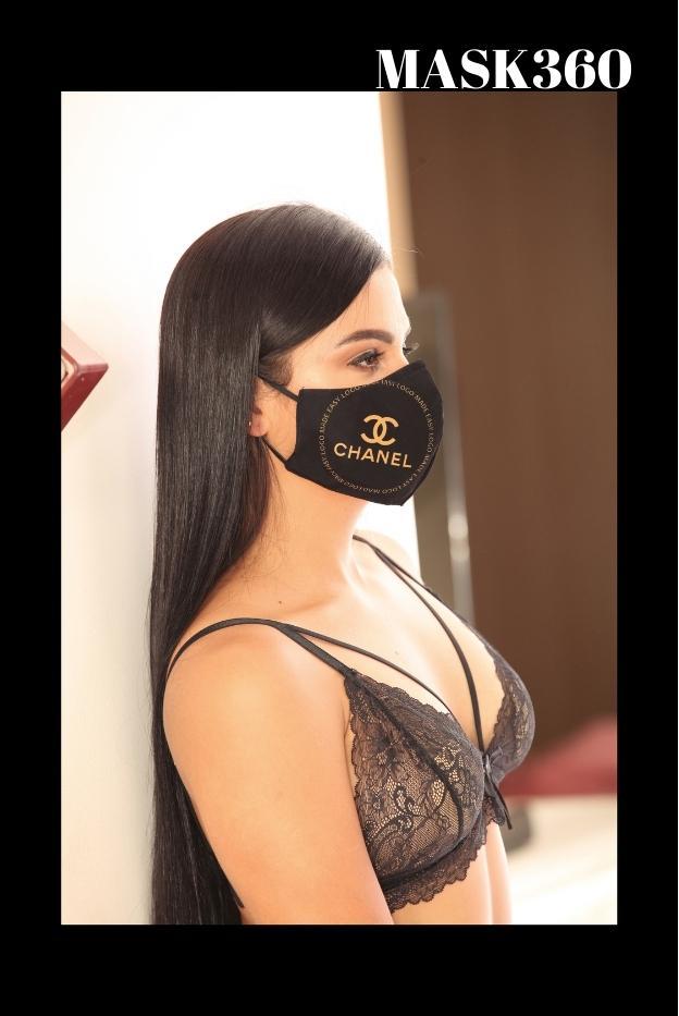 Mascarilla Protección Fahsion Chanel Negra