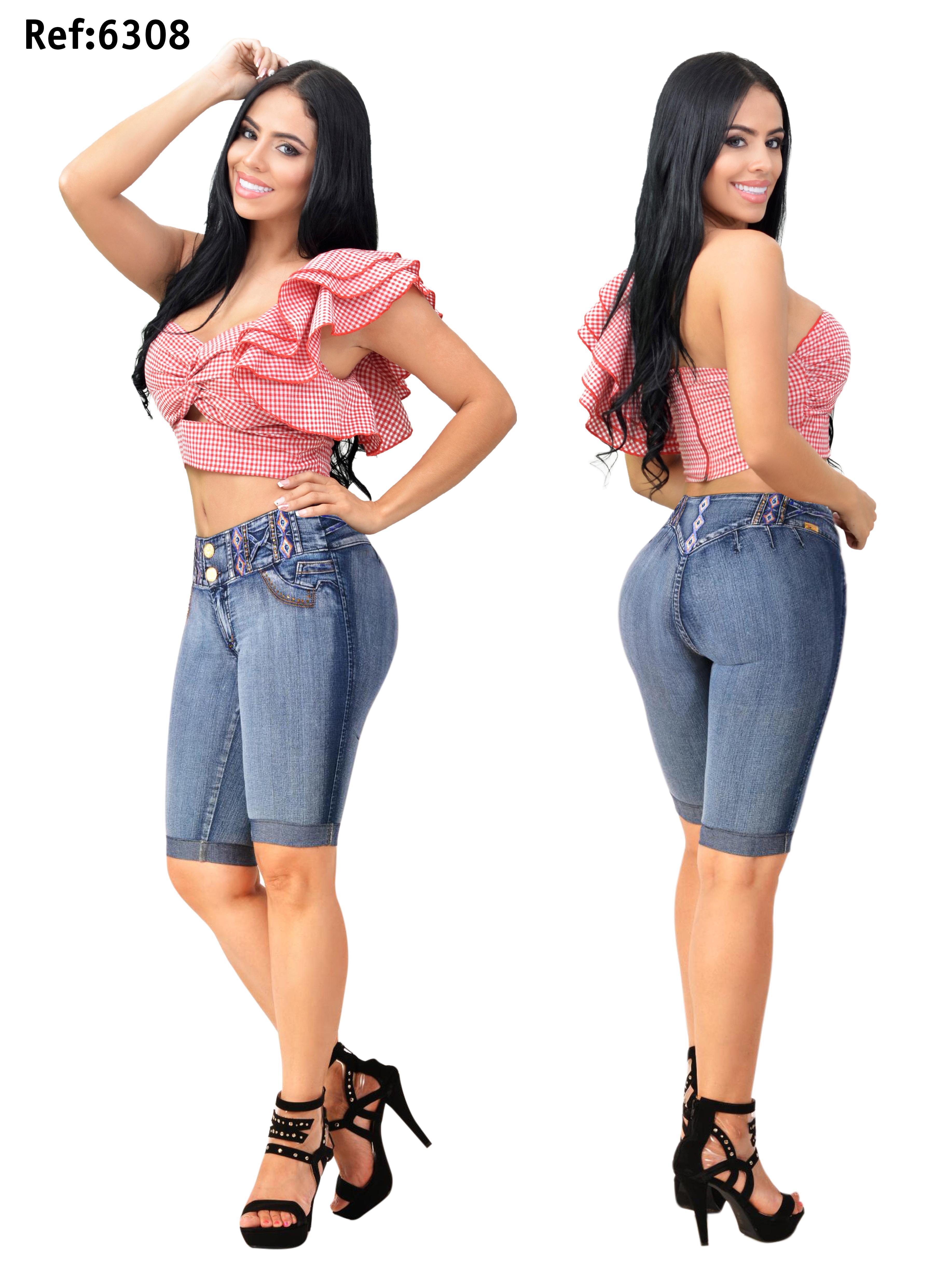 Jean Capri de moda Colombiano
