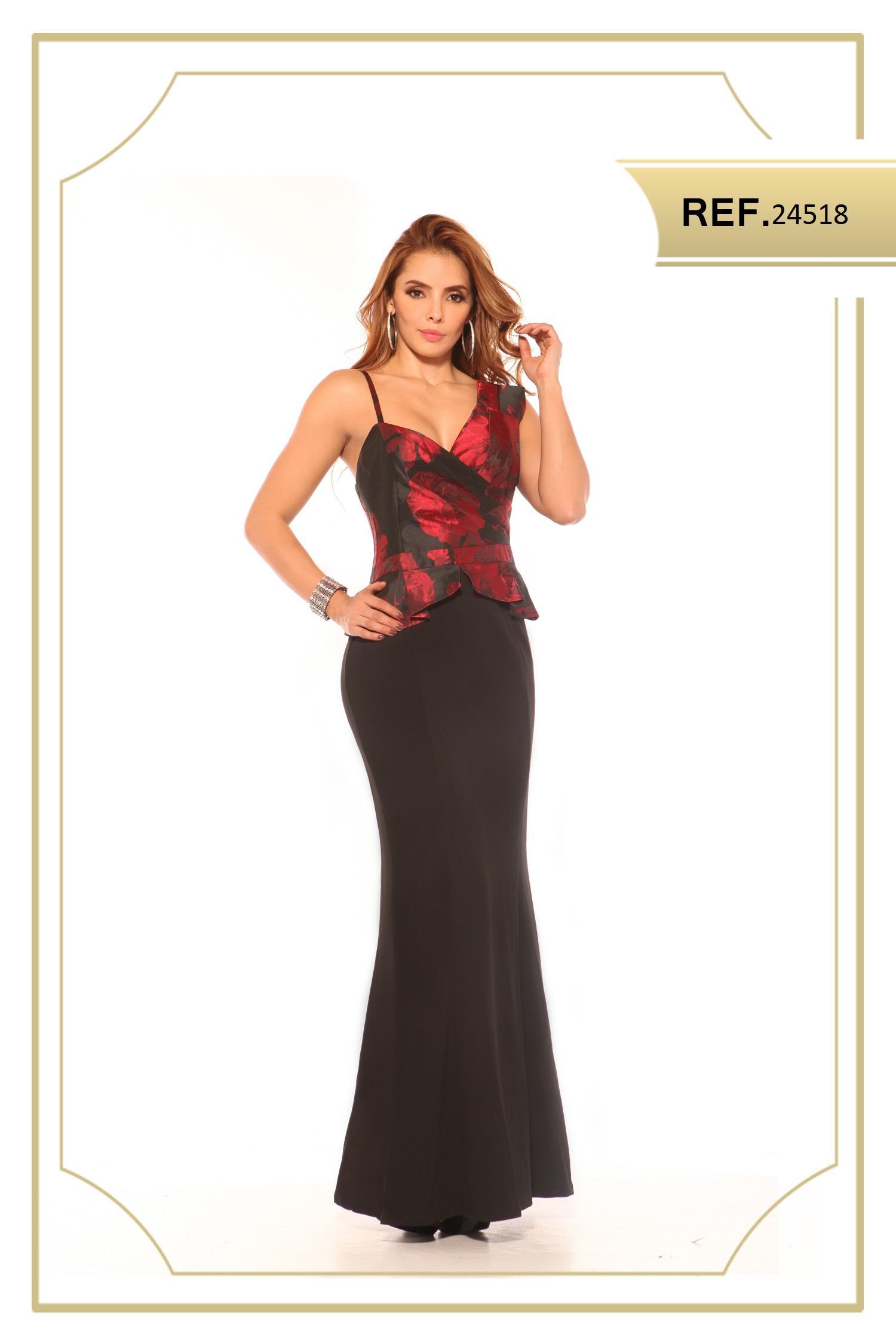 Vestido Americano Largo de Moda, Diseño Exclusivo y Original
