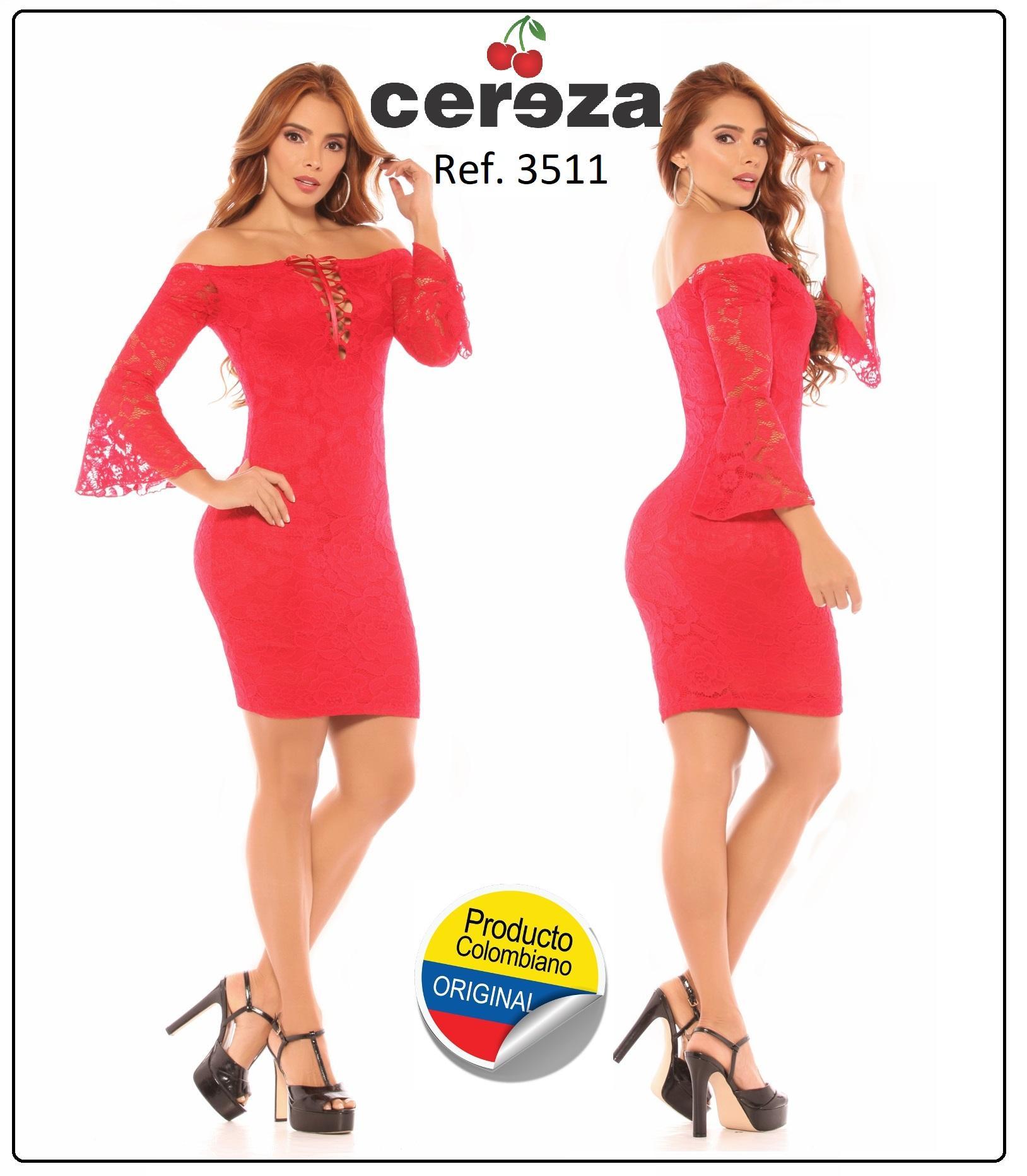 Vestido Corto Colombiano para Fiestas y Ocasiones